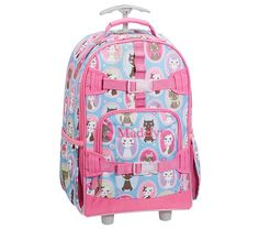 Mackenzie Aqua Kitty Backpacks | Pottery Barn Kids