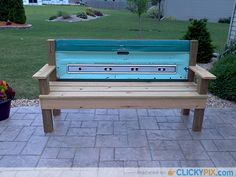 Tailgate Bench With 1967 Tailgate My Husband Made Decor