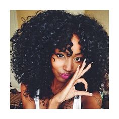 Nobby Black Towheaded Afro Curly Heat Resistant Synthetic Medium... ($17) ❤ liked on Polyvore featuring beauty products, haircare, hair styling tools and curly hair care