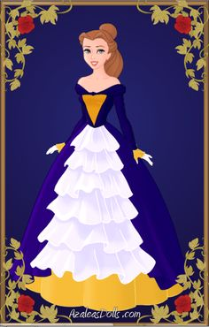 Rapunzel's mother from Tangled. Made with Azaleas Dolls', Heroine Creator.