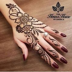 Simple Mehndi Design Images Gallery - Simple Mehndi Designs for Hands Images Easy to Draw for Beginner. new mehndi design that suitable for beginner Mehndi Designs For Fingers, Best Mehndi Designs, Simple Mehndi Designs, Henna Tattoo Designs, Mehandi Designs, Arabic Henna Designs, Henna Tatoos, Simple Henna Tattoo, Henna Tattoo Hand