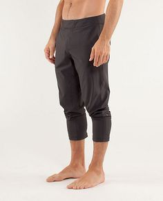 "lululemon's ""Inversion Pant"" in Soot. $98. Edit: Purchased. Love them. Edit II: Also owned in Black."