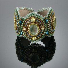I Dream of the Sea Bracelet, Bead Embroidery