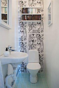 New Bath Room Wallpaper Ideas Wallpapers Laundry Rooms 34 Ideas Wc Decoration, Geek Decor, Toilet Room, Small Toilet, Bathroom Tile Designs, Bath And Beyond Coupon, Room Wallpaper, Wallpaper Ideas, Aesthetic Room Decor