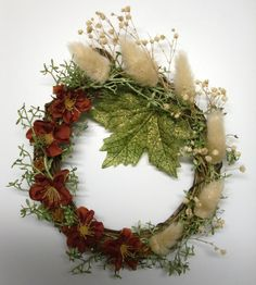 5 1/2 Grapevine FALL WREATH by Meenchie82 on Etsy
