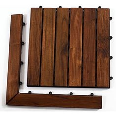 Shown with Le Click Classic Dark Teak Wood Interlocking Deck Tile (sold separately)