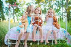 Summer fun with sisters, and their bears of course! Photo by Jinky Art.