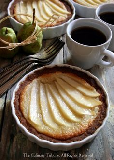 Vegan Pear Tarts