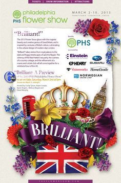 """Learn some more about this year's British invasion theme! Watch """"Brilliant: A Preview of the 2013 PHS Philadelphia Flower Show"""" on Saturday, March 2 at 7pm on 6abc!"""