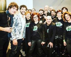 Io con Paolo Bruni e Enrico Salvi dei negrita e il grande Max Gazze #maxgazzè #paolobruni #pau #enricosalvi #LookdaCantante #Capellimania #cisiamoanchenoi #TIMmusicOnstageAwards #timmusiconstageawards