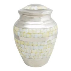 Perfect Memorials Large Brass Nickel Mother Of Pearl Cremation Urn *** Trust me, this is great! Click the image. (This is an amazon affiliate link. I may earn commission from it)