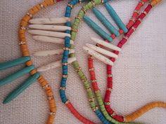 Marianna Mae howlite stick necklaces on etsy