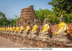 Buddha statues in Ayutthaya,Thailand.