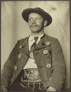 With a refugee and migrant crisis continuing around the world, it can be easy to forget those that came to the U.S. more than a century ago.  Between 1905 and 1914, registry clerk and amateur photographer Augustus Sherman snapped pictures of people arriving at the Port of New York at Ellis Island.  Bavarian man.