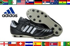 reputable site 496d6 6455b Black Original Adidas Copa Mundial Leather FG West Germany Cleats Soccer  Boots  Adidas