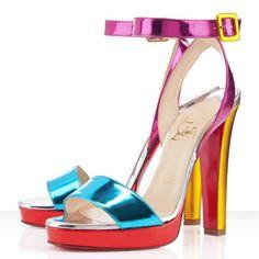 Louboutin Sandalen Schöne Farbe Schuhe #heels