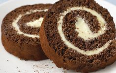 "Chocolate and buttercream swiss roll! We used to get one as a kid with ice cream called a ""Newlywed""!"