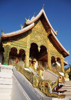 #Haw_Kham_Temple, #Luang_Prabang, #Laos ~ #UNESCO_World_Heritage_Site http://directrooms.com/laos/hotels/luang-prabang-hotels/price1.htm