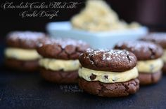 Chocolate Cookies Filled With Cookie Dough (& Food Fight) - Will Cook For Smiles