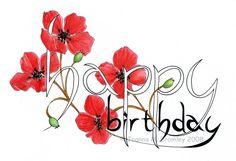 Happy Birthday_Poppies by JoannaBromley on deviantART