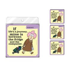 TreeFree Greetings NC37750 Aunty Acid 4Pack Artful Coaster Set Lifes a Journey >>> Continue to the product at the image link.