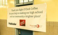 Appreciating the partnership between Eight O'Clock Coffee, Publicolor and EcoMedia.  #CoffeeFuelsChange