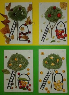 Class Art Projects, Cool Art Projects, Projects To Try, Art For Kids, Crafts For Kids, Arts And Crafts, Easy Fall Crafts, Autumn Art, Nature Crafts