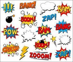 Superheld Clipart Comic Book Clip Art Comic Text von YarkoDesign