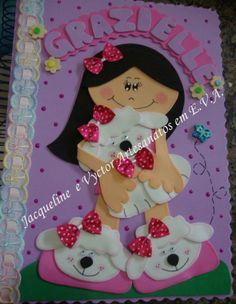 cachorro em eva caderno decorado - Pesquisa Google