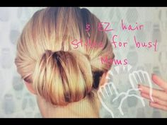 Hairstyles for the Super Busy Mom How to 3 Easy Hair Styles for Busy Moms Elle Leary Artistry Night Hairstyles, Easy Bun Hairstyles, Mom Haircuts, Short Layered Bob Haircuts, Date Night Hair, Medium Hair Styles, Long Hair Styles, Hair Magazine, Hair Dos