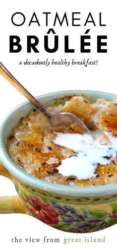 Hot Oatmeal Recipe, Oatmeal Recipes, Oatmeal Cups, Baked Oatmeal, Baked Oats, What's For Breakfast, Breakfast Healthy, Healthy Breakfasts, Brunch Recipes