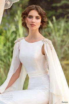 papilio bridal 2014 wedding dress fiorenza cape close up