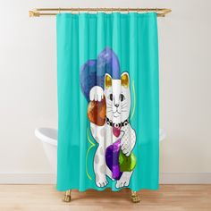 Cat Shower Curtain, Lucky In Love, Maneki Neko, Fashion Room, Buttonholes, Vintage Designs, My Arts, Tapestry, Curtains