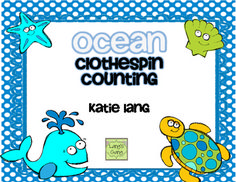 Ocean Clothespin Counting FREEBIE!