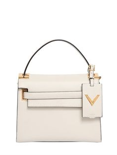 VALENTINO - SMALL MY ROCKSTUD LEATHER TOP HANDLE - LUISAVIAROMA - LUXURY SHOPPING WORLDWIDE SHIPPING - FLORENCE