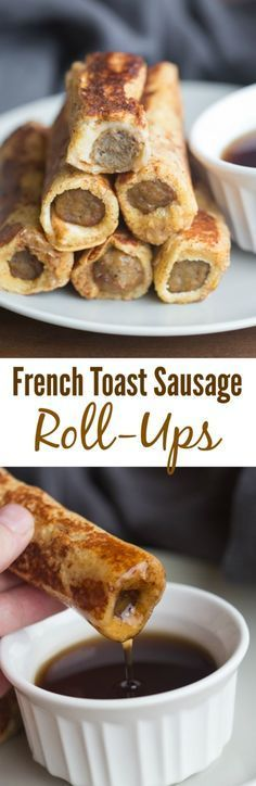 Easy to make and fun to eat, these French Toast Sausage Roll-Ups are always popular with my family. A yummy twist on traditional french toast. | Tastes Better From Scratch , Follow PowerRecipes For More.