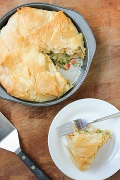 This pot pie is not only vegan, but it has a golden phyllo crust / 17 Unique Pot Pies That Will Get You Hot (via BuzzFeed)