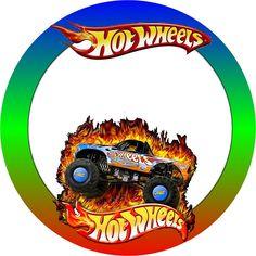 Hot Wheels - Kit Completo com molduras para convites, rótulos para guloseimas, lembrancinhas e imagens! - Fazendo a Nossa Festa
