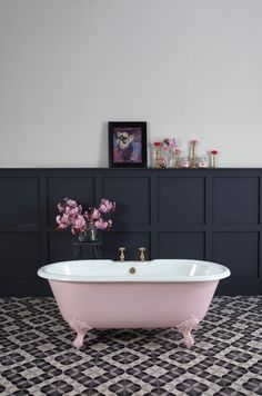 Pink bathtub featured on NONAGON.style