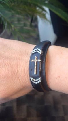 Cross bracelet with Cuff/KEEP https://www.keep-collective.com/with/tinamorrison
