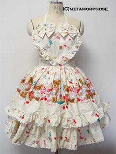 Metamorphose temps de fille » Skirt » Teddy Patissier Skirt with Apron