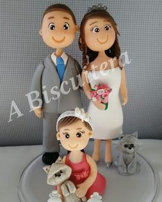Família completa!!! #biscuit #porcelanafria #polimerclay #festainfantil #topodebolopersonalizado #topodebolo #abiscuitera #temabailarina #temaprincesa #temabailarinas #topodenoivo
