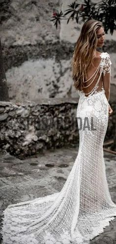 Unique Beaded Mermaid Lace Beach Vintage Wedding Dresses WD0529#weddingdresses #weddingdress #bridalgown #weding #bridaldress #laceweddingdress #fashion #Ballgown #Country #boho #Princess #modest Wedding Dressses, Long Wedding Dresses, Bridal Dresses, Beaded Dresses, Lace Wedding, Wine Color Bridesmaid Dress, Bridesmaid Dresses, Prom Dresses, Grooms Party