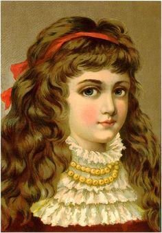 papers.quenalbertini: Big Eyed Vic-torian Girl Image | The Graphics Fairy