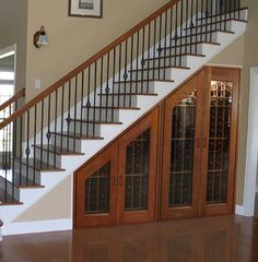 Modern Storage Ideas for Small Spaces, Staircase Design with Storage They have a lot of great ideas for understair storage on this page