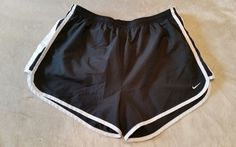 NIKE Womens Black White Tempo Athletic Running Shorts Large  Dri Fit | Clothing, Shoes & Accessories, Women's Clothing, Athletic Apparel | eBay!