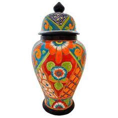 Talavera Ginger Jar -- SALE! 10% off all orders through Feb. 18, 2014. Rustic Furniture, Mexican Furniture, Talavera Tile, Folk Art