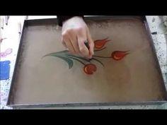 Wonderful Lale buketi, Ebru Sanatı,  Marbling, الفن على الماء - YouTube