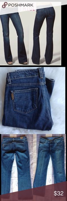 """PAIGE Premium Jeans Hollywood Hills Size 29x30.5 PAIGE PREMIUM Holly Wood Hills JEANS Gorgeous Classy PAIGE PREMIUM Hollywood Hills Jeans Size 29, Inseam 30.5"""", Rise 8.5"""", waist 16"""" Very Good Preloved Condition at a VERY LOW PRICE Very Classy, yet Sexy Retail For $199.99 From a """"Smoke Free"""" Environment  Will be shipped within 24 hours of payment  These Jeans are very nice. There are no stains, holes or rips.  SKU 15 Paige Premium Jeans Jeans Boot Cut"""