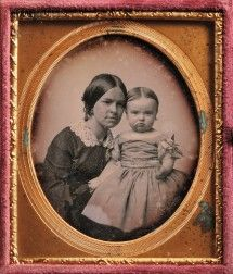 Two Daguerreotypes: School of John Adams Whipple (American, 1822-1891), Sixth-plate Daguerreotype of a Woman and Child